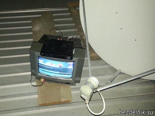 Настраиваем антену с помощью телевизора.